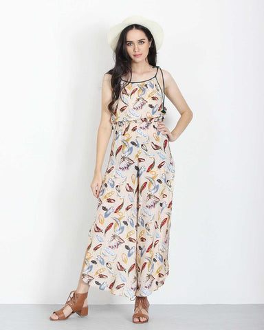 Feather Print Jumpsuit 1