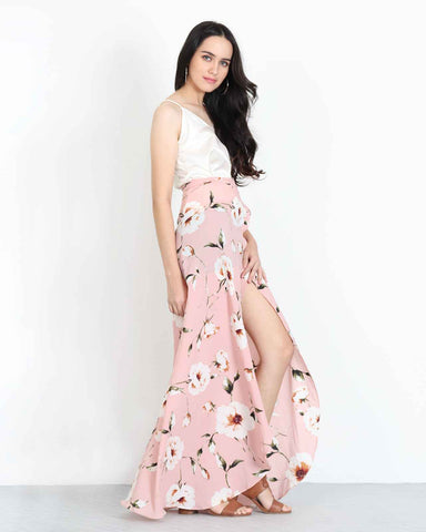 Floral Maxi Skirt Pink 1