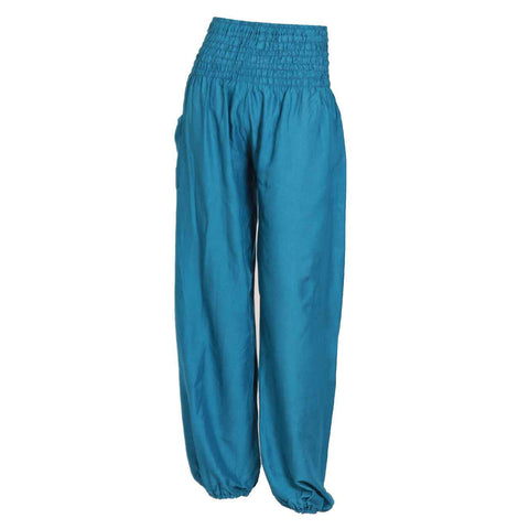 Harem Pants High Cut Blue 1