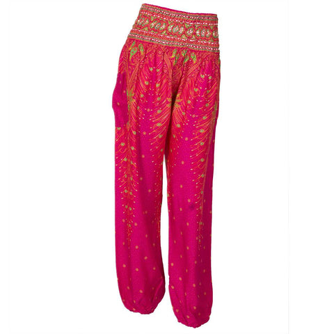 Harem Pants High Cut Pink Red Green 1