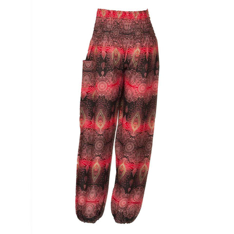 Harem Pants High Cut Red Black Candlelight 2