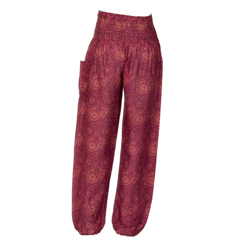Harem Pants High Cut in Red Paisley Print 1