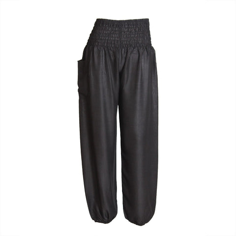 Harem Pants High Cut in Black 1