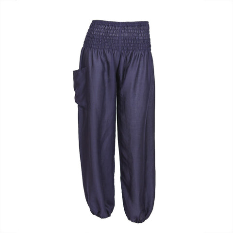 Harem Pants High Cut in Dark Blue 1