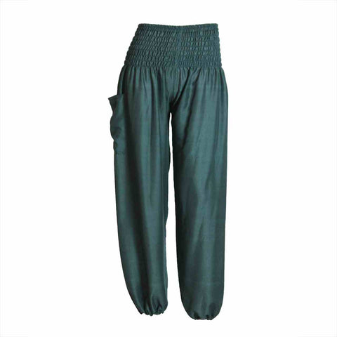 Harem Pants High Cut in Green 1