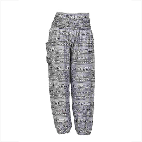 Harem Pants High Cut in Grey Tribal Print 1