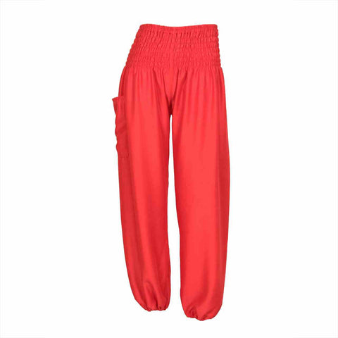 Harem Pants High Cut in Red 1