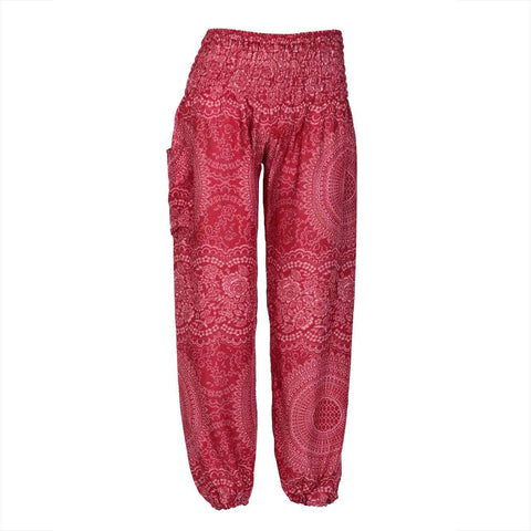 Harem Pants High Cut in Red Mandala Print 1