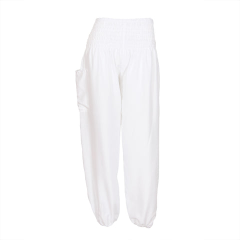Harem Pants High Cut in White 1