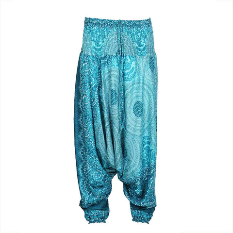 Harem Pants Low Cut Blue Mandala 1