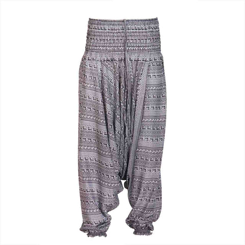 Harem Pants Low Cut Grey Tribal 1