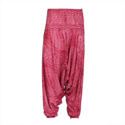 Harem Pants Low Cut Red Mandala 1