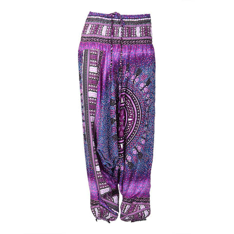 Harem Pants Low Cut Trident Purple 1