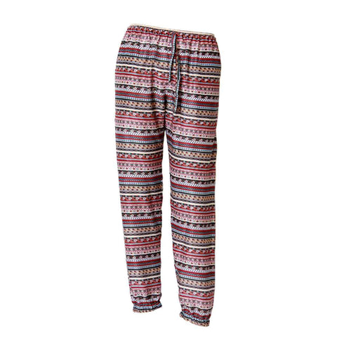 Harem Pants Slim Fit Dark Red Tribal 1