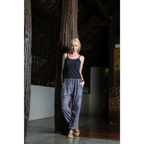 Harem Pants Slim Fit in grey tribal 1