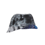 Twister Blue - Black tie dye bucket hat.