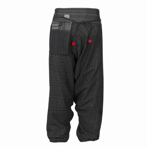 Low Cut Harem Pants Black Hill Tribe 1