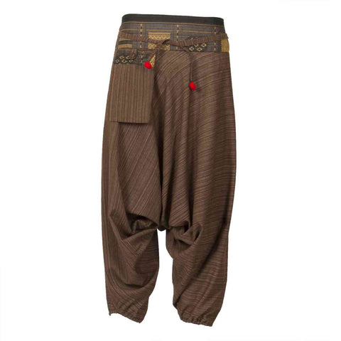 Low Cut Harem Pants Brown Hill Tribe 1