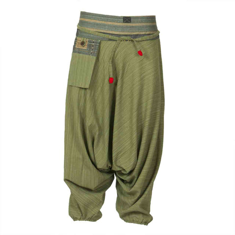 Low Cut Harem Pants Green Hill Tribe 1
