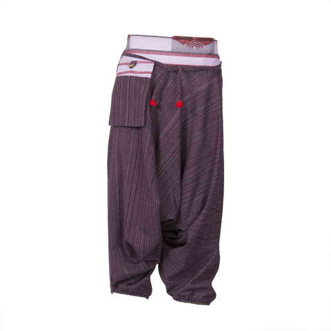 Low Cut Harem Pants Purple Hill Tribe 1