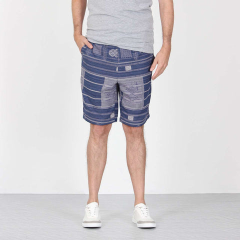 Shorts Blue Jacquard 1