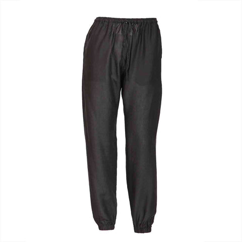 Slim Fit Harem Pants Black 1
