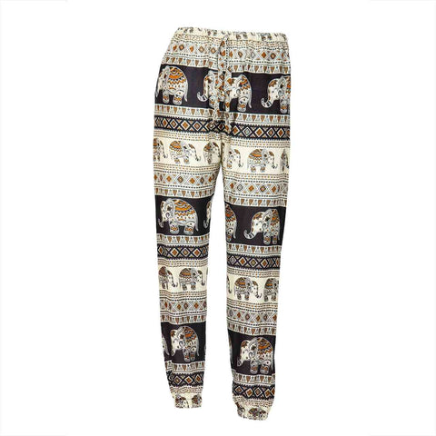 Slim Fit Harem Pants Black Brown Elephant 1