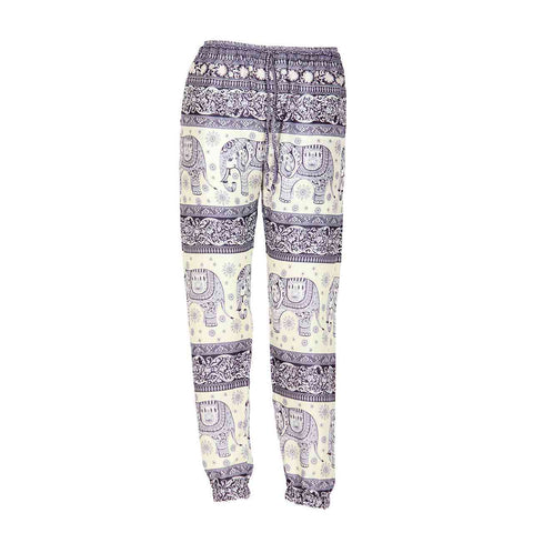 Slim Fit Harem Pants Dark Blue White Elephant 1