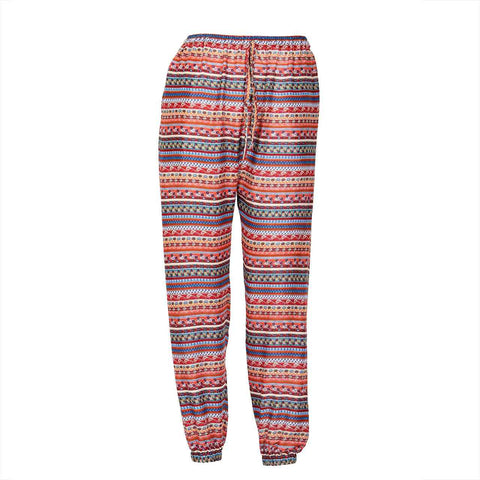 Slim Fit Harem Pants Red Blue Aqua tribal 1