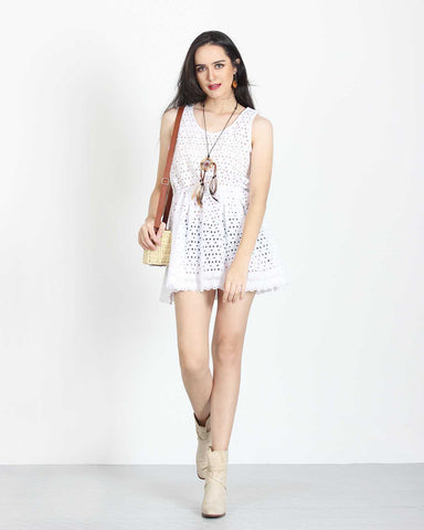 Summer Dress White Broderie 1