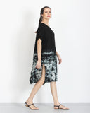 Tie Dye Dress Black 2