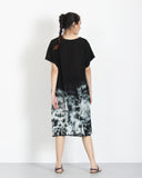 Tie Dye Dress Black 3