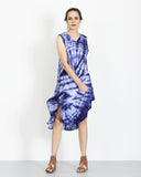 Tie Dye Dress Blue Splash 1