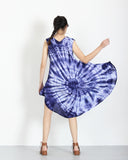 Tie Dye Dress Blue Splash 3