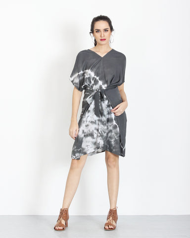 Tie Dye Dress Grey 1