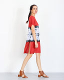 Tie Dye Dress Red 2