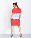 Tie Dye Dress in Red