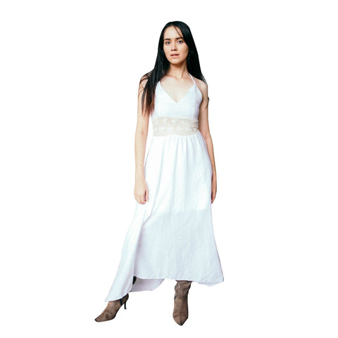 White Cotton Maxi Dress 1