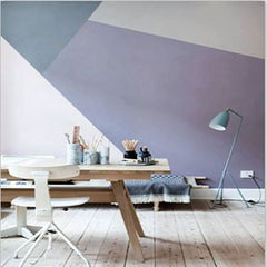 geometrical wall-purple