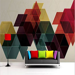 geometrical wall-red and black