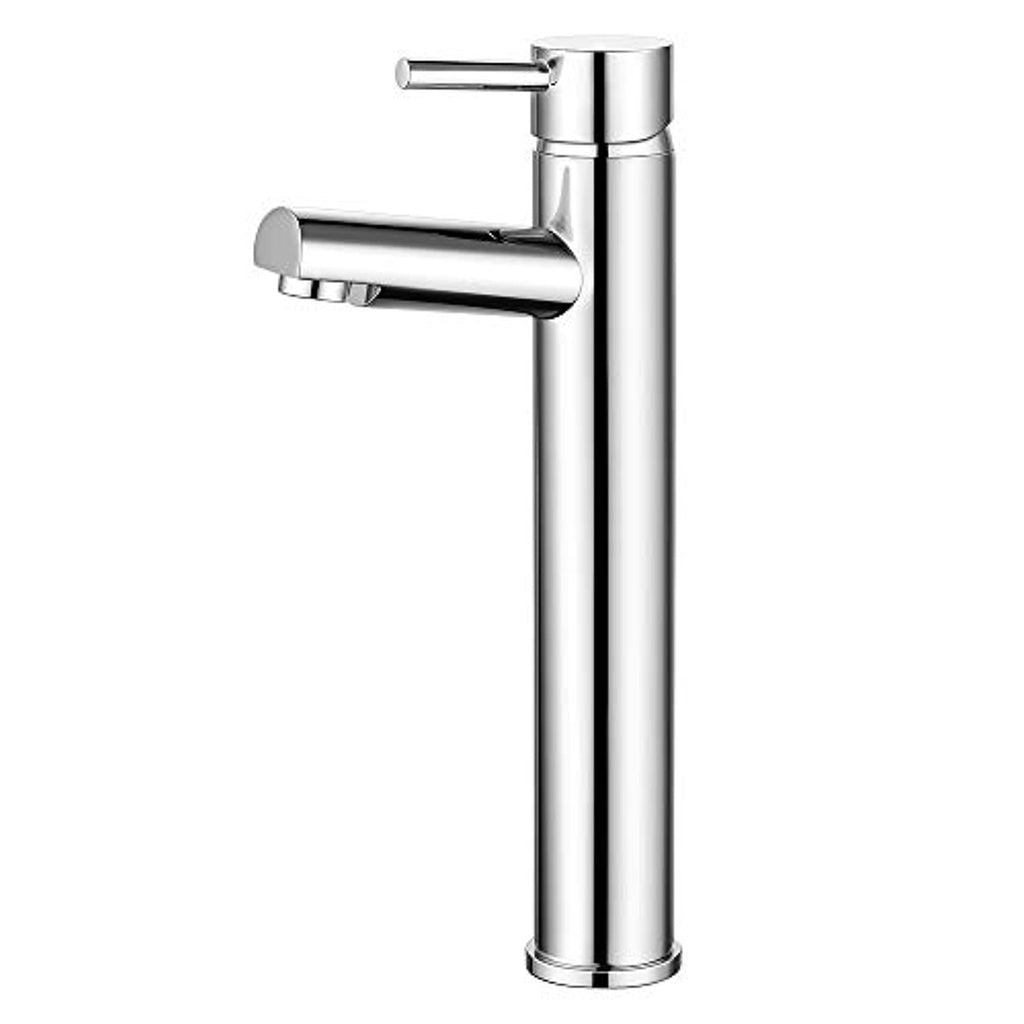 Bathroom Taps Countertop Basin Mixer Tap for Washroom and Bathroom Sink Single Lever Solid Brass Chrome 10 Year Guarantee