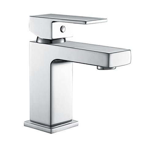 Hapilife Bathroom Basin Monoblock Solid Brass Square Handle Hot Cold Mixer Tap