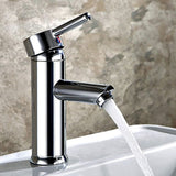 Hapilife Bathroom Sink Washroom Basin Single Lever Chrome Brass Mixer Tap With Pop Up Waste