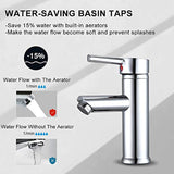 Hapilife Bathroom Sink Washroom Basin Single Lever Chrome/Brass Mixer Tap Hapi-01A