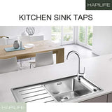 Hapilife 10 Years Warranty Single Lever Swivel Spout Modern Kitchen Sink Basin Mixer Tap with UK Standard Fittings