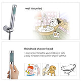 [Bath Shower Tap] Hapilife Bathroom Watefall Double Handle Mixer Monobloc Tap with Handheld Shower Head Chrome