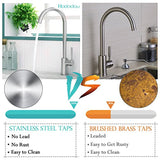 Stainless Steel Kitchen Sink Mixer Taps Monobloc 360º Swivel Spout Single Lever