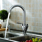 Hapilife® Contemporary  Swivel Spout Kitchen Tap-Chrome
