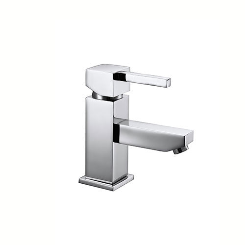 Holly Modern Mono Basin Mixer with Sprung Waste - Chrome