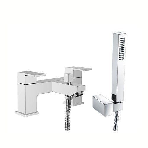 Eleanor Modern Bath Shower Mixer with Shower Kits- Chrome